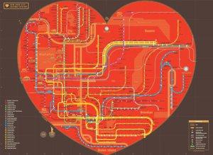 Heart NYC Subway Map