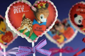 Vintage Valentine Cookie Pops