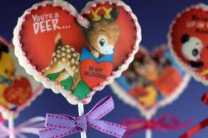 Vintage Valentine Cookie Pops