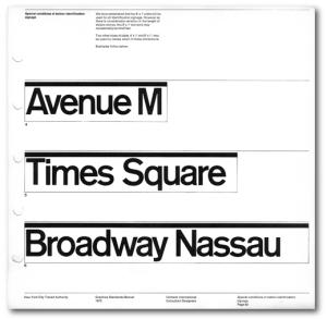 Original NYC Subway Signs