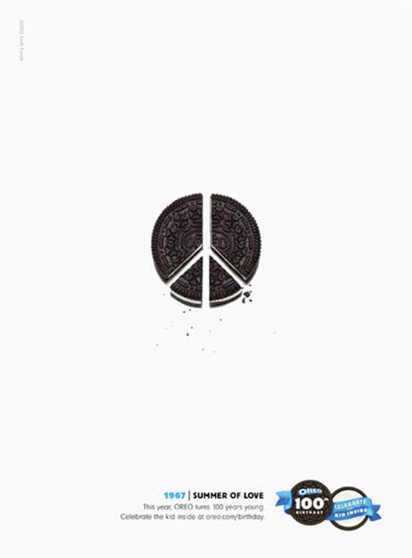 Oreo Ad Peace Sign