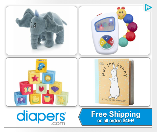 Diapers.com ad with Horton