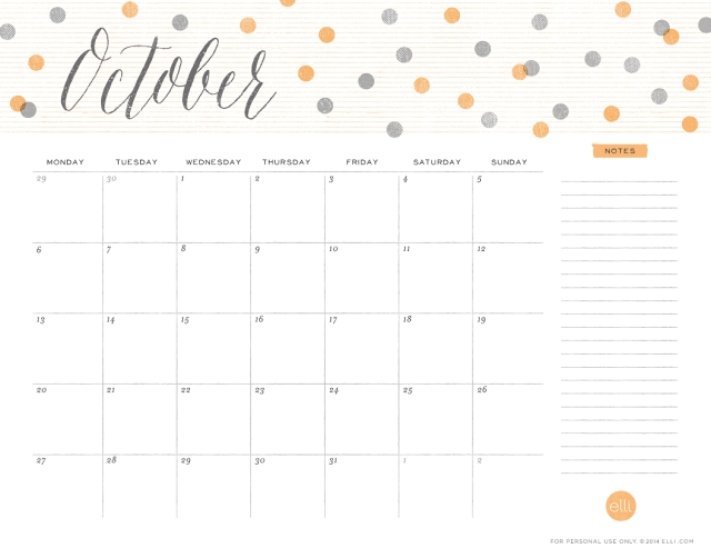 Happy With Printables Calendar November : Happy october free printable calendars