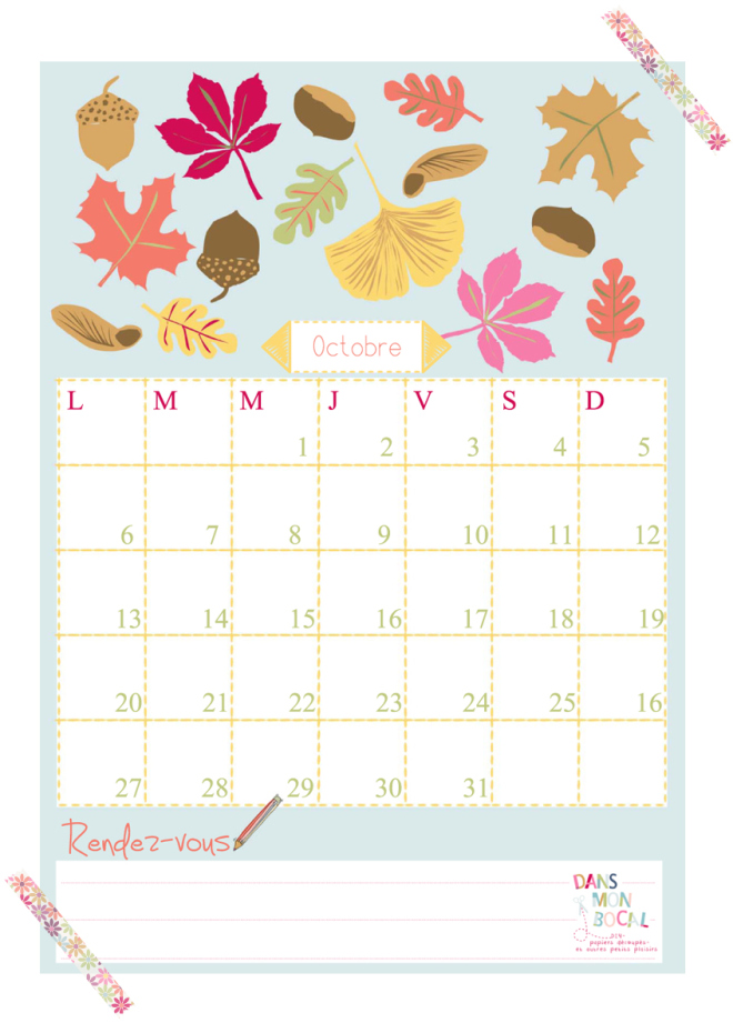 Happy With Printables Calendar : Happy october free printable calendars