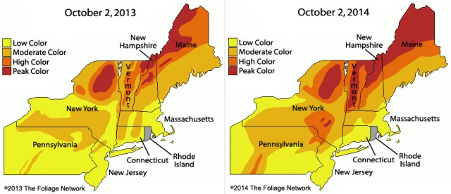 Fall Foliage Compare 2013 and 2014