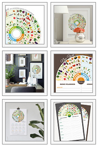 Shop seasonal local food calendars on Etsy