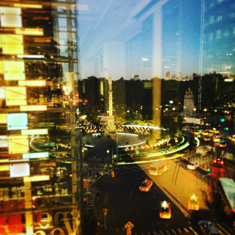 New York Art Director, Jessica Haas captures Columbus Circle at night