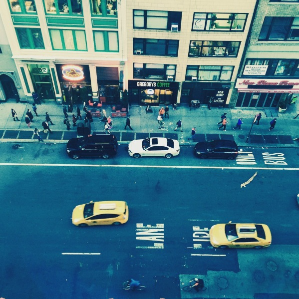 New York Art Director, Jessica Haas captures an aerial street view of 7th ave