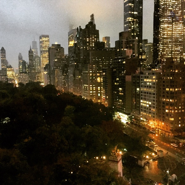 New York Art Director, Jessica Haas captures a misty Central Park on Columbus Circle at night