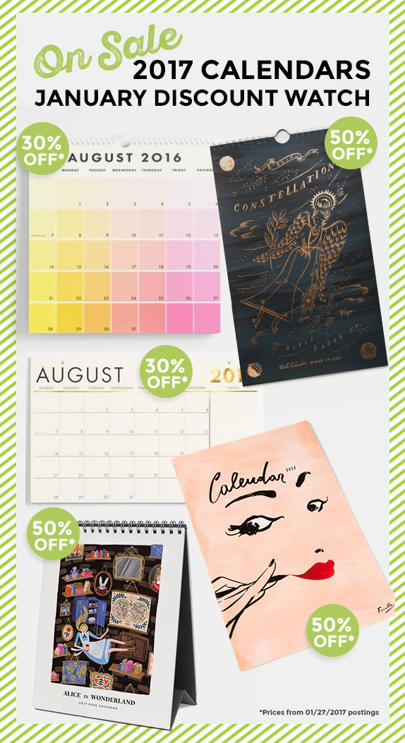 2017 Calendar Discounts favorite finds by Jessica Haas Designs
