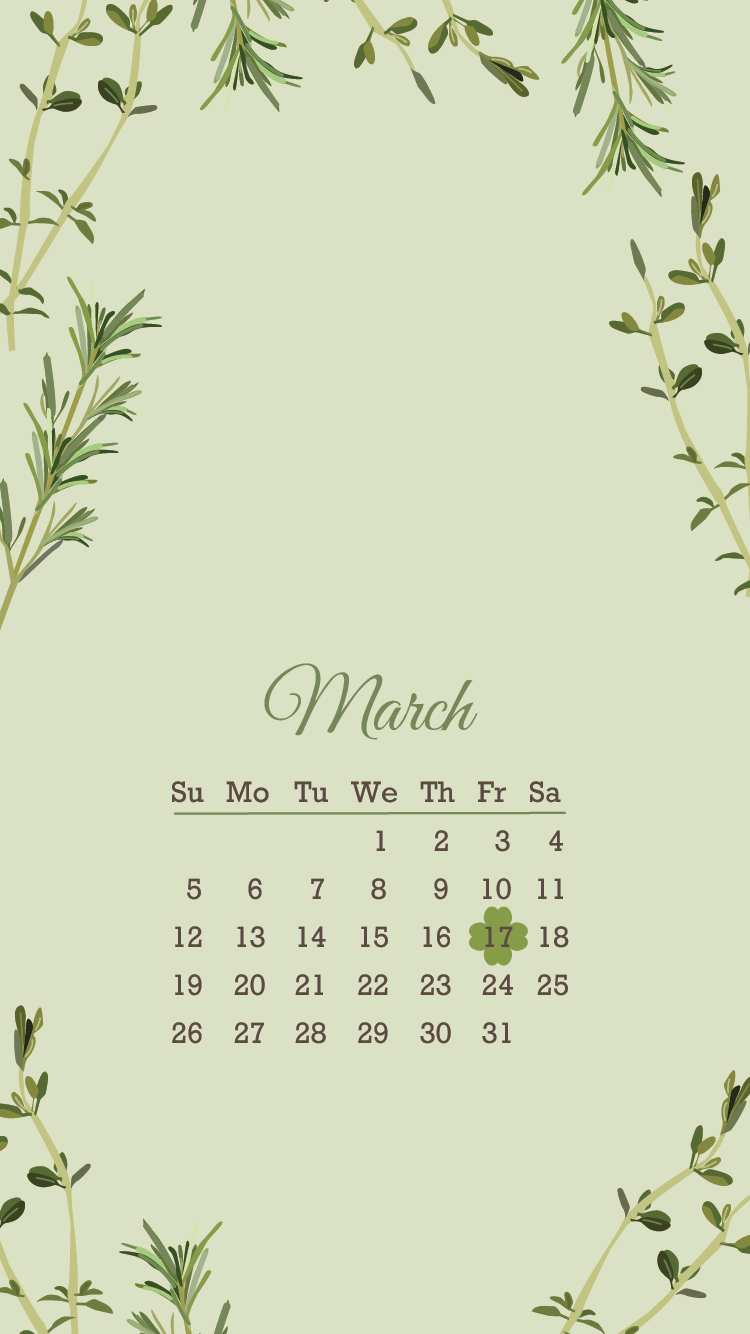 March 2017 Popsugar Must Have Box Review: Free March 2017 Herb Wallpapers