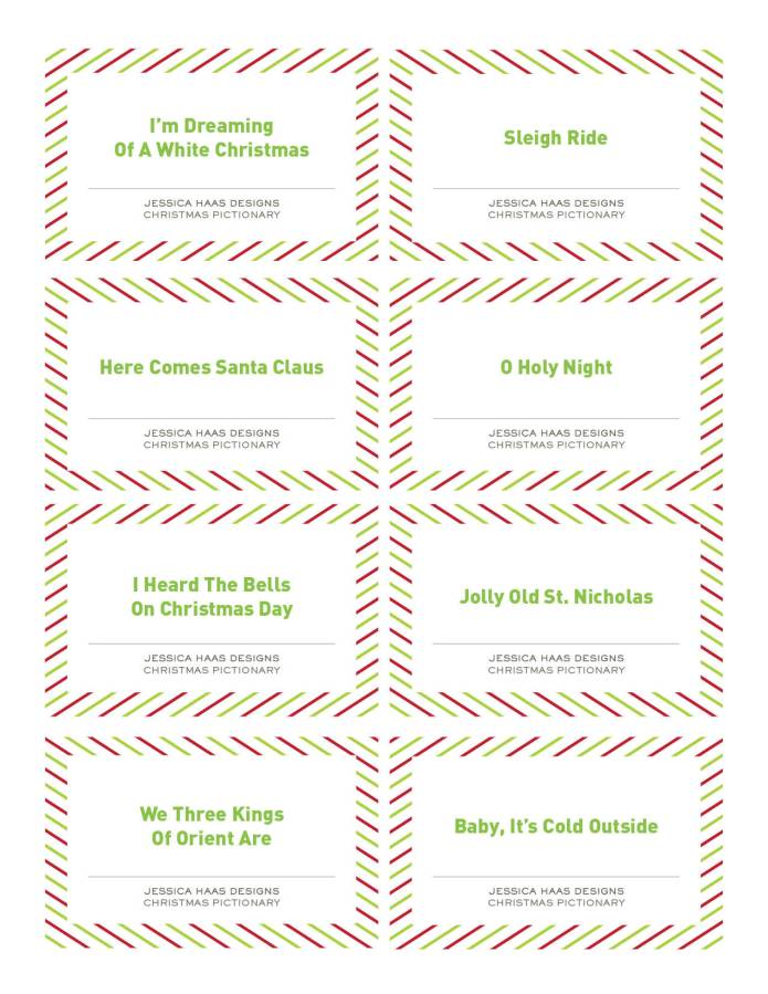 Jessica Haas Designs - FREE Christmas Pictionary